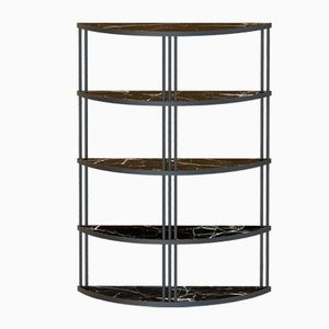 Black ROMA Bookcase with Black Marble by Alex Baser for MIIST