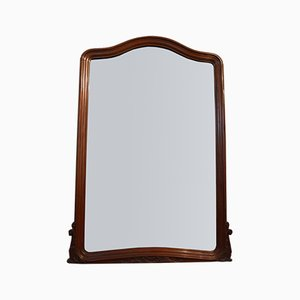 Large Antique French Mahogany Overmantel Mirror, 1900s