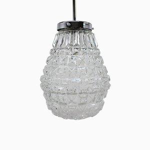 Lampe à Suspension Vintage en Verre de Kamenický Šenov