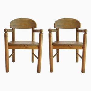 Paar dänische Esszimmerstühle aus Pinienholz von Rainer Daumiller für Hirtshals, 1970er, 2er Set