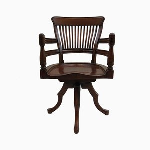 Antique Walnut Swivel Chair by E W Godwin