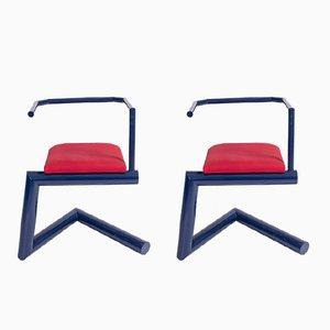 Postmoderne italienische Stühle, 1980er, 2er Set