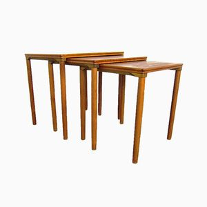 Vintage Danish Nesting Tables by E. W. Bach