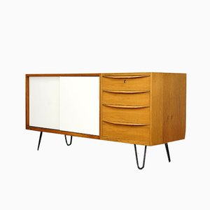 Walnut & Steel Sideboard, 1960s