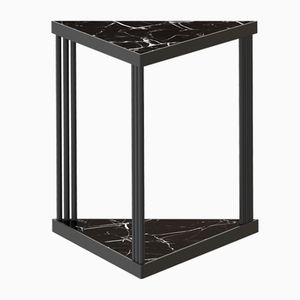 Black TRECENTO Coffee Table with Black Marble by Alex Baser for MIIST