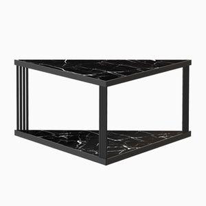 Großer schwarzer TRECENTO Couchtisch mit schwarzer Marmorplatte von Alex Baser für MIIST