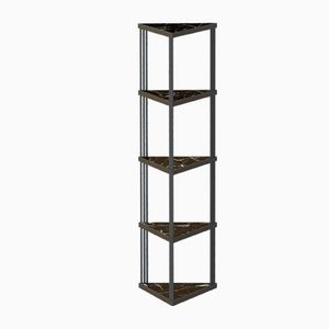 Schwarzes TRECENTO Bücherregal mit schwarzen Marmorplatten von Alex Baser für MIIST