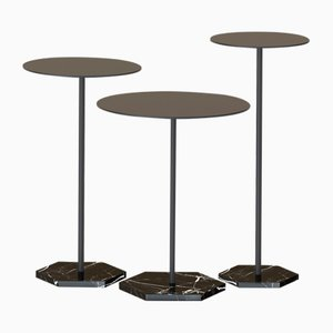 Tables d'Appoint LOTUS par Alex Baser pour MIIST, Set de 3