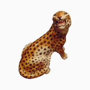 Vintage Leopard aus Keramik von Bell'Europa, 1970er