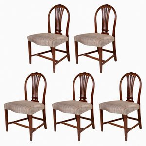 Vintage Mahogany Chairs, 1920s, Set of 5