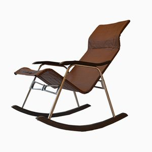 Vintage Folding Rocking Chair by Takeshi Nii, 1960s