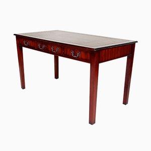 Vintage Schreibtisch aus handgefertigtem Leder & Mahagoni von Shaw of London