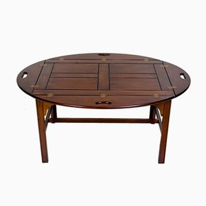 Large Vintage Mahogany Butler's Tray Table from Bevan Funnell, 1950s