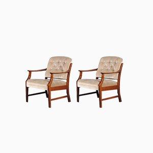 Dänische Mid-Century Lehnstühle,1960er, 2er Set