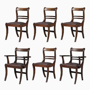 Vintage English Dining Chairs, 1920s, Set of 6