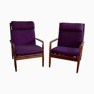 Vintage Scandinavian Armchairs by Grete Jalk, Set of 2