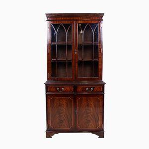 Vintage Mahogany & Glass Cabinet, 1950s