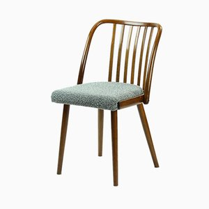 Vintage Beech & Bentwood Chair from TON, 1960s