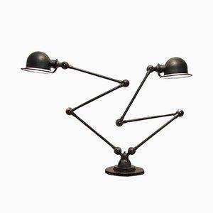 Double Lampe de Bureau Articulée Industrielle de Jieldé, 1950s