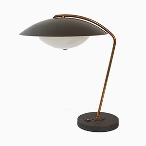 Mid-Century French Brass, Steel, and Perspex Table Lamp from Arlus, 1950s
