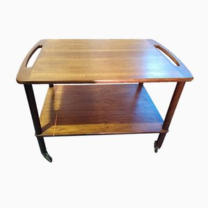 Mid-Century Danish Teak Butler's Tray Table from Bowa