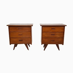 Vintage Teak Nightstands, Set of 2