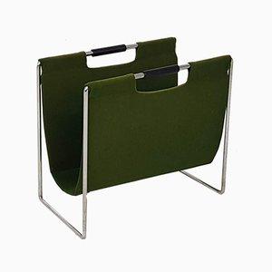 Revistero vintage verde de Brabantia, años 60
