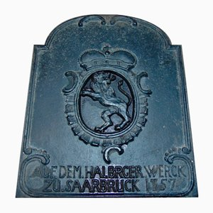 German Cast Iron Sign, 1970s