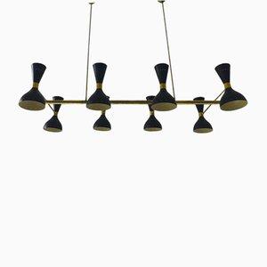 Italienische Mid-Century Deckenlampe, 1950er