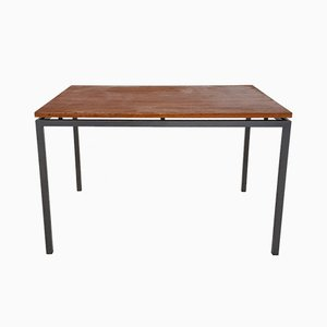Vintage Teak and Metal Dining Table