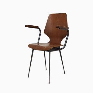 Italienischer Vintage Stuhl aus Schichtholz von Carlo Ratti