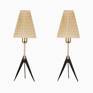 Mid-Century Floor Lamps by J. T. Kalmar, Set of 2
