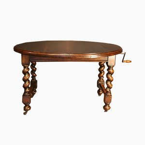 Antique Oak Extendable Oval Dining Table from Jas Shoolbred & Co.