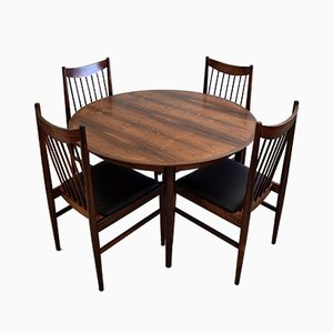 Mid-Century Rosewood 422 Dining Room Set by Arne Vodder for Sibast