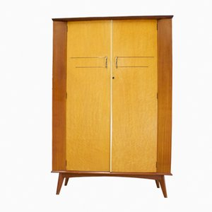 Teak & Walnut Wardrobe, 1950s