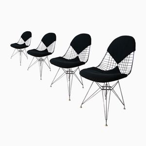 DKR Bikini Wire Chairs by Charles & Ray Eames for Herman Miller, 1951, Set of 4