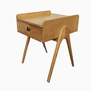 Vintage Double-Sided Nightstand on Compass Legs, 1960s