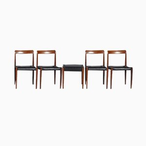 Mid-Century Rosewood Chairs from Lübke, 1960s, Set of 5