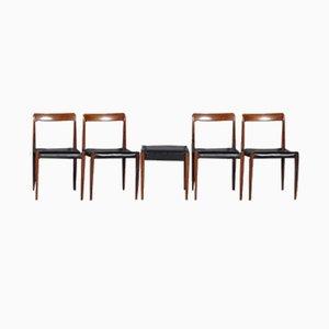 Mid-Century Stühle aus Palisander von Lübke, 1960er, 5er Set