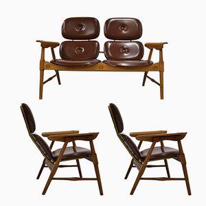 Set da sala d'attesa vintage, anni '60