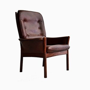Leather Lounge Chair from G-Mobel, 1970s