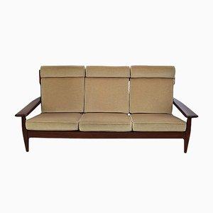 Vintage Mahogany Sofa, 1960s