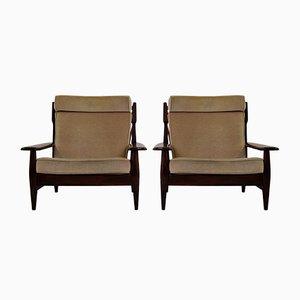 Vintage Sessel aus Mahagoni, 1960er, 2er Set