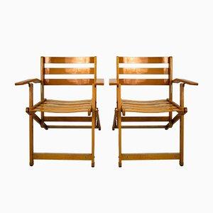 Chaises Pliantes Vintage par Ico Parisi pour Fratelli Reguitti, Set de 2