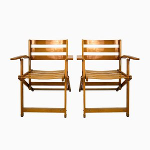 Vintage Folding Chairs by Ico Parisi for Fratelli Reguitti, Set of 2