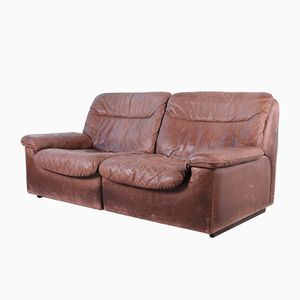 DS-66 2-Seater Leather Sofa from de Sede, 1970s