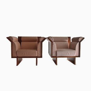 Poltrona Pretenziosa Lounge Chairs by Ugo la Pietra for Busnelli, 1983, Set of 2