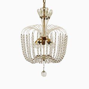 Lámpara de araña de cristal de Vereinigte Werkstätten Collection, años 50