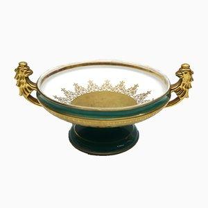 Vintage Porcelain Serving Dish with 22 Karat Gold Decoration by Josef Kuba for JKW