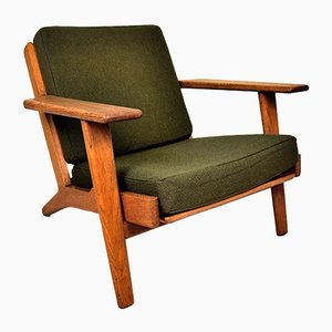 GE290 Low back Lounge Chair in the Style of Hans J. Wegner for Getama, 1950s